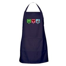 Peace Love Snakes Apron (dark)