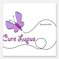 "Cure Lupus Square Car Magnet 3"" x 3"""