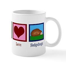 Peace Love Hedgehogs Mug