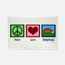 Peace Love Hedgehogs Rectangle Magnet