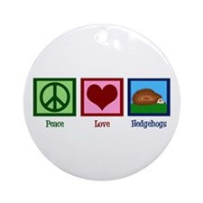 Peace Love Hedgehogs Ornament (Round)