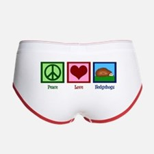 Peace Love Hedgehogs Women's Boy Brief