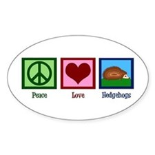 Peace Love Hedgehogs Decal