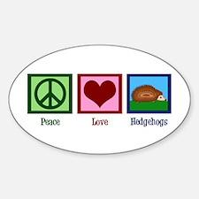 Peace Love Hedgehogs Decal