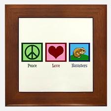 Peace Love Hamsters Framed Tile