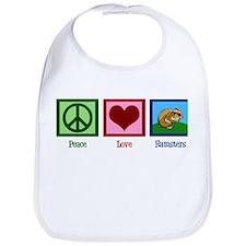 Peace Love Hamsters Bib
