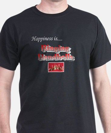 Happiness Is... Black T-Shirt