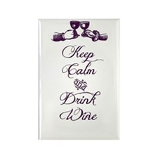 Keep Calm & Drink Wine Rectangle Magnet