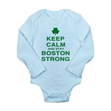 Keep Calm and Boston Strong Long Sleeve Infant Bod