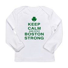 Keep Calm and Boston Strong Long Sleeve Infant T-S