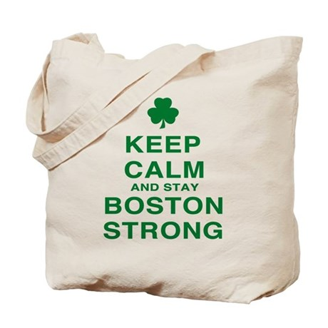 Keep Calm and Boston Strong Tote Bag