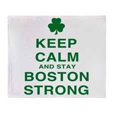 Keep Calm and Boston Strong Throw Blanket