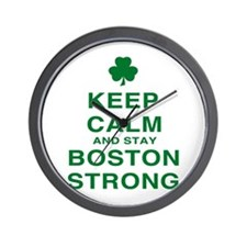 Keep Calm and Boston Strong Wall Clock