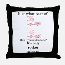 Rocket Science Throw Pillow