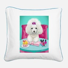 Cupcake Square Canvas Pillow