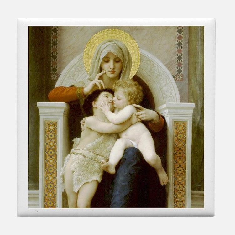 Virgin, Jesus & St. John the Baptist 1875 Tile