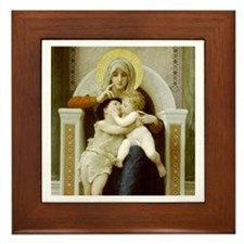 Virgin, Jesus & St. John the Baptist Framed Ti