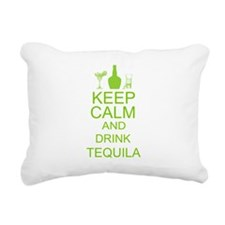 Keep Calm and Drink Tequila Rectangular Canvas Pil