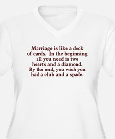 Marriage deck of cards T-Shirt