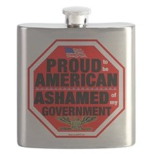 Proud to be American Flask