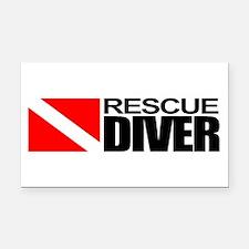 Rescue Diver Rectangle Car Magnet