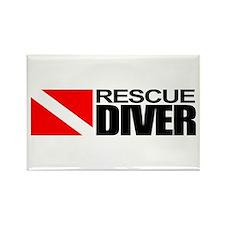 Rescue Diver Rectangle Magnet