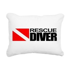 Rescue Diver Rectangular Canvas Pillow
