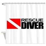 Rescue Diver Shower Curtain
