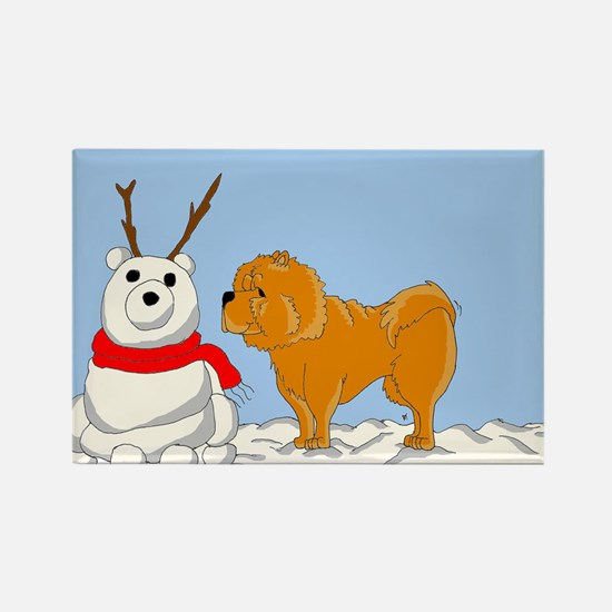 Chow Chow Christmas Rectangle Magnet