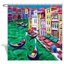 Venice Painting Shower Curtain