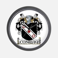 Conway Coat of Arms Wall Clock