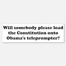 Obamas teleprompter Bumper Bumper Bumper Sticker