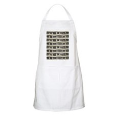 Rock And Roll Piano Keys Apron