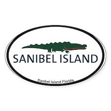 Sanibel Island - Alligator Design. Decal