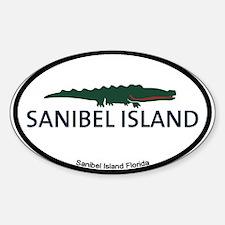Sanibel Island - Alligator Design. Sticker (Oval)
