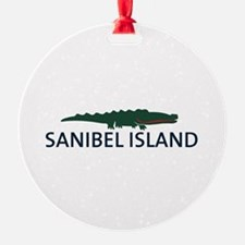 Sanibel Island - Alligator Design. Ornament