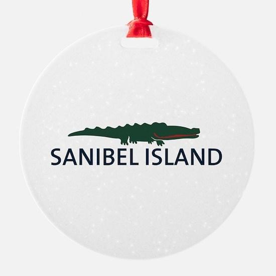 Sanibel Island - Alligator Design. Ornament