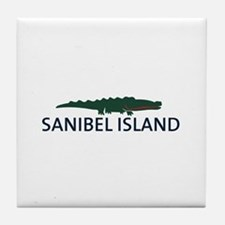 Sanibel Island - Alligator Design. Tile Coaster