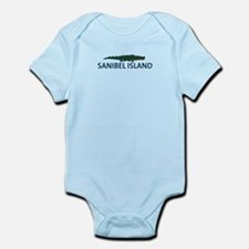 Sanibel Island - Alligator Design. Infant Bodysuit