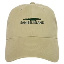 Sanibel Island - Alligator Design. Baseball Cap
