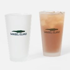 Sanibel Island - Alligator Design. Drinking Glass