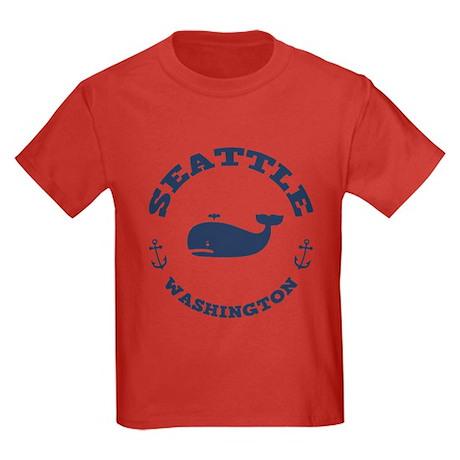 Seattle Whale Kids Dark T-Shirt