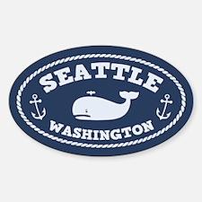 Seattle Whale Sticker (Oval)