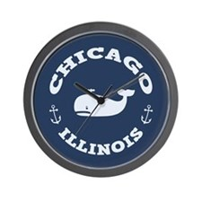 Chicago Whaling Wall Clock