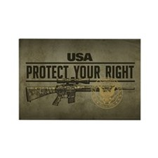 Protect Your Right Rectangle Magnet