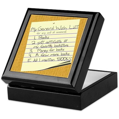 My General Wish List Keepsake Box