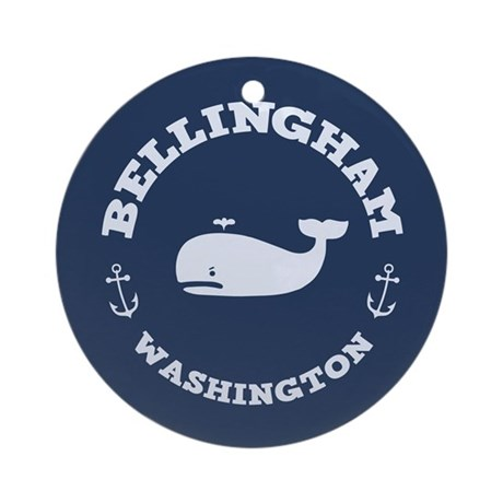 Bellingham Whale Ornament (Round)