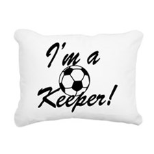Im a Keeper Blk Rectangular Canvas Pillow