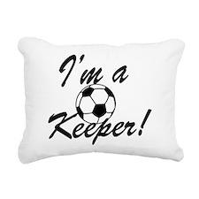Im a Keeper Blk Rectangular Canvas Pillow