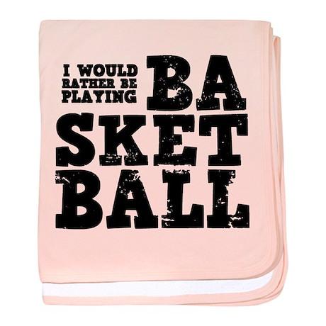 'Basketball' baby blanket